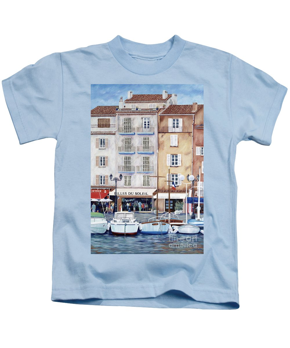St. Tropez Kids T-Shirt featuring the painting Filles Du Soleil by Danielle Perry