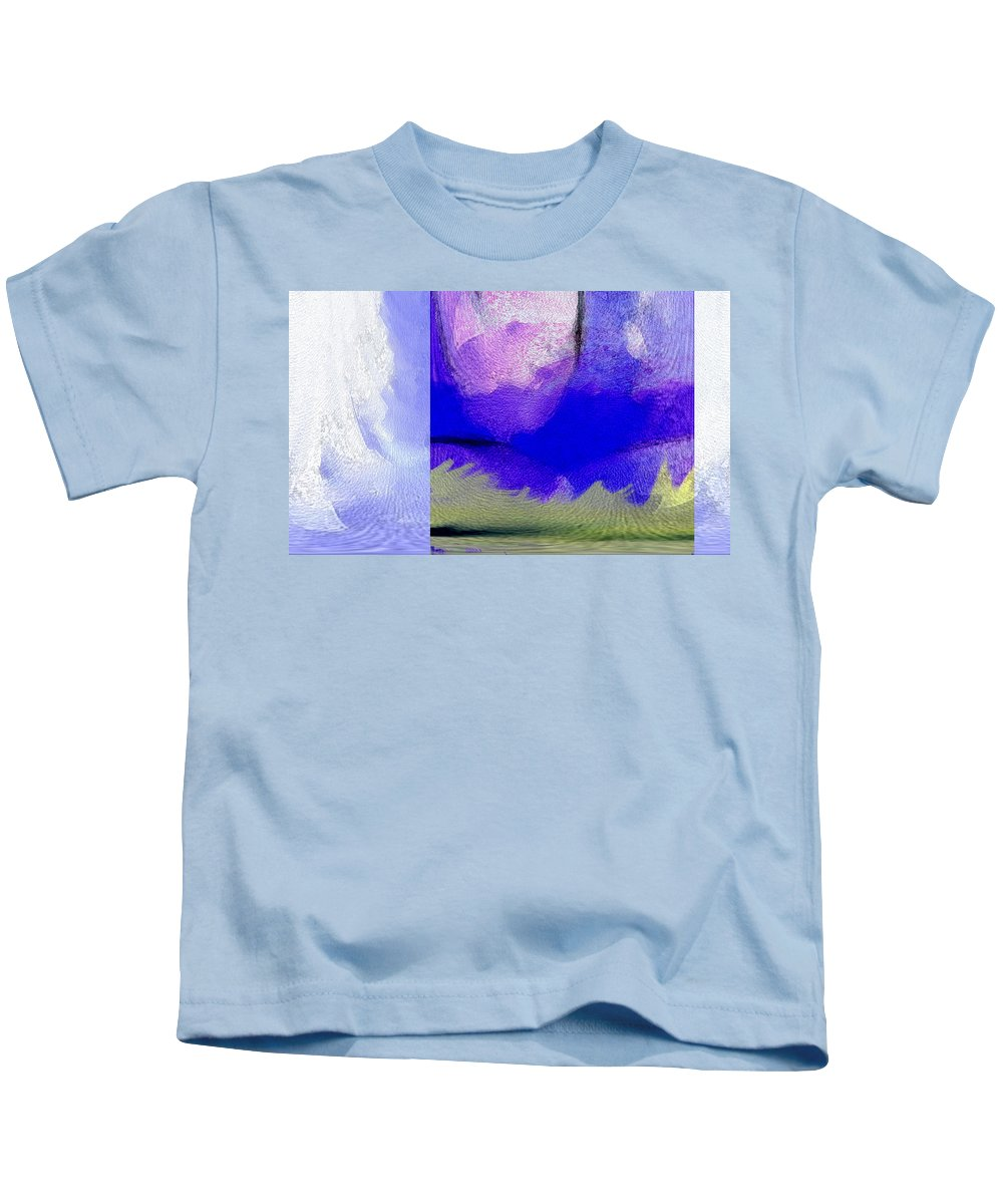 Expressive Kids T-Shirt featuring the digital art Finger Painting By The Hand Of God 2 by Lenore Senior