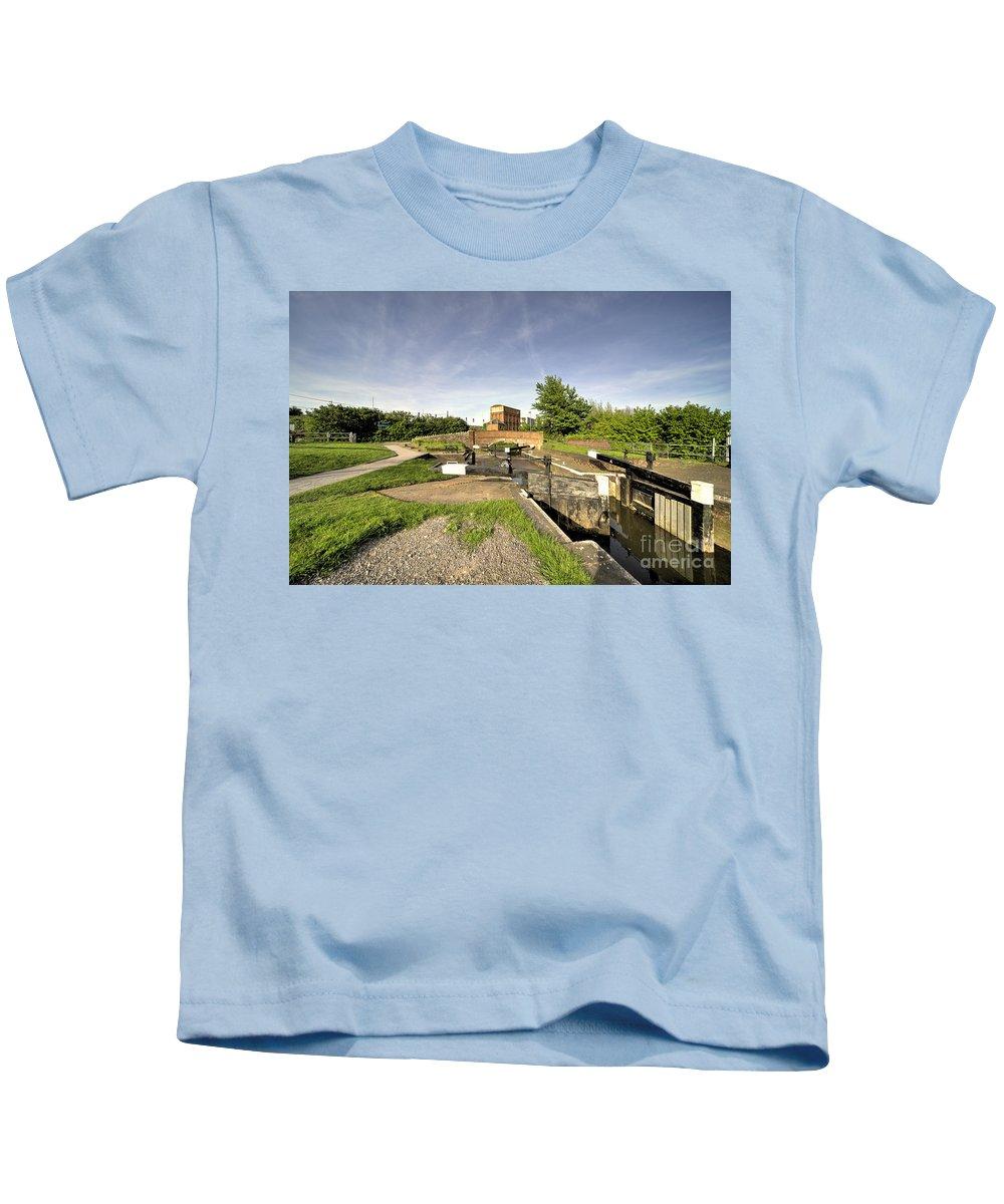 Lock Kids T-Shirt featuring the photograph Firepool Lock by Rob Hawkins