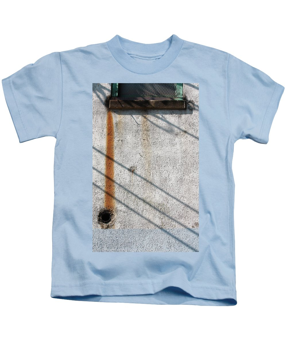 Abstract Kids T-Shirt featuring the photograph Fishy Guts by The Artist Project