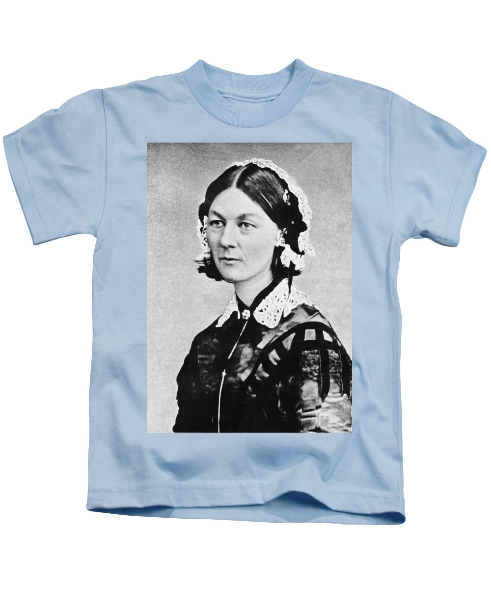 0e90713e100a2 1035-1065 Kids T-Shirt featuring the photograph Florence Nightingale by  Underwood Archives
