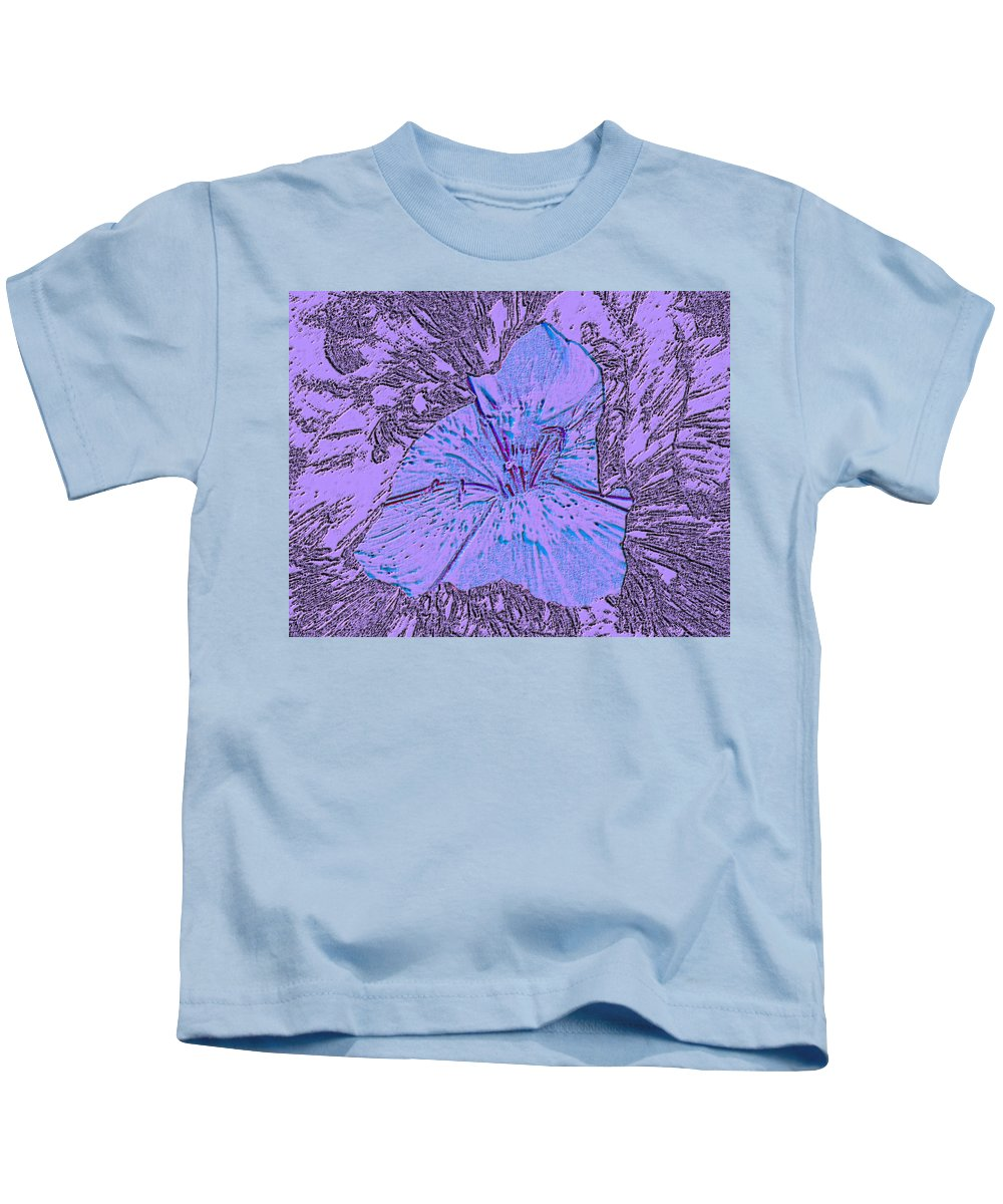 Celebrate Kids T-Shirt featuring the digital art Flower Of Purple by Sergey Bezhinets