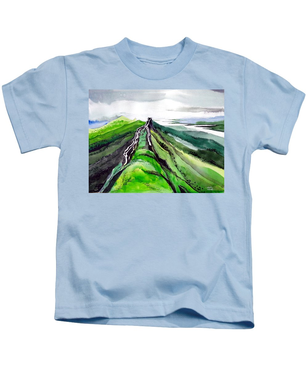 Fort Kids T-Shirt featuring the painting Fort 1 by Anil Nene