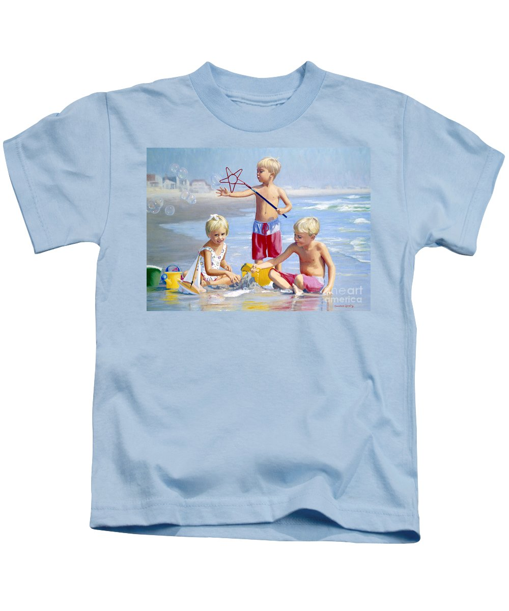 Children Kids T-Shirt featuring the painting Four Five And Six by Candace Lovely