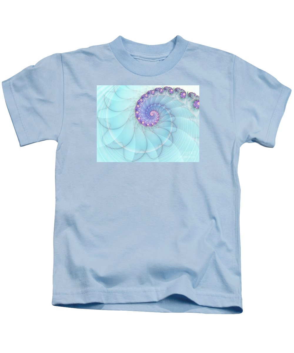Fractal Kids T-Shirt featuring the digital art Fractal 17 by Lena Auxier