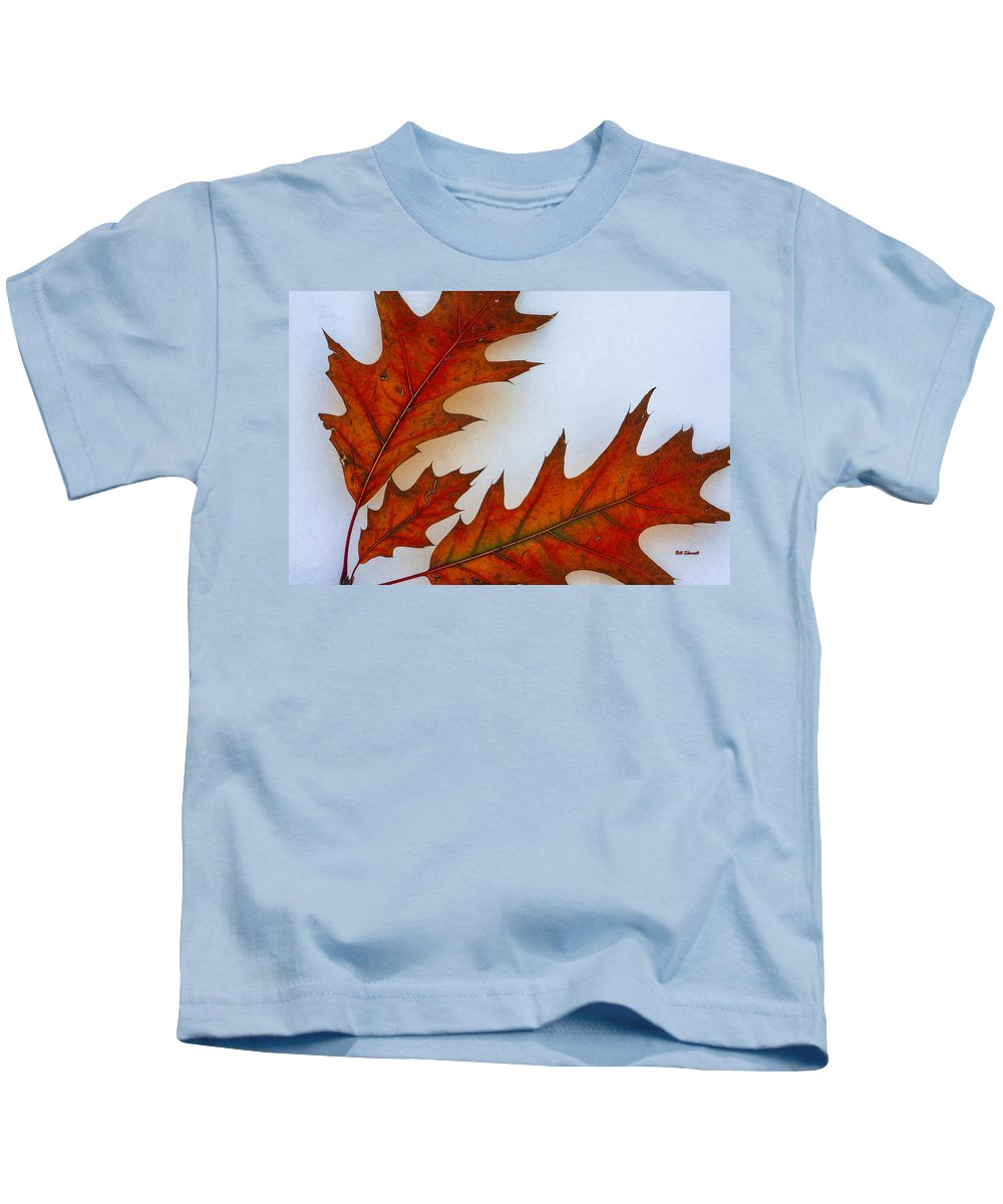 Leaves On Snow Kids T-Shirt featuring the photograph Fragile Transformation by Bill Sherrell