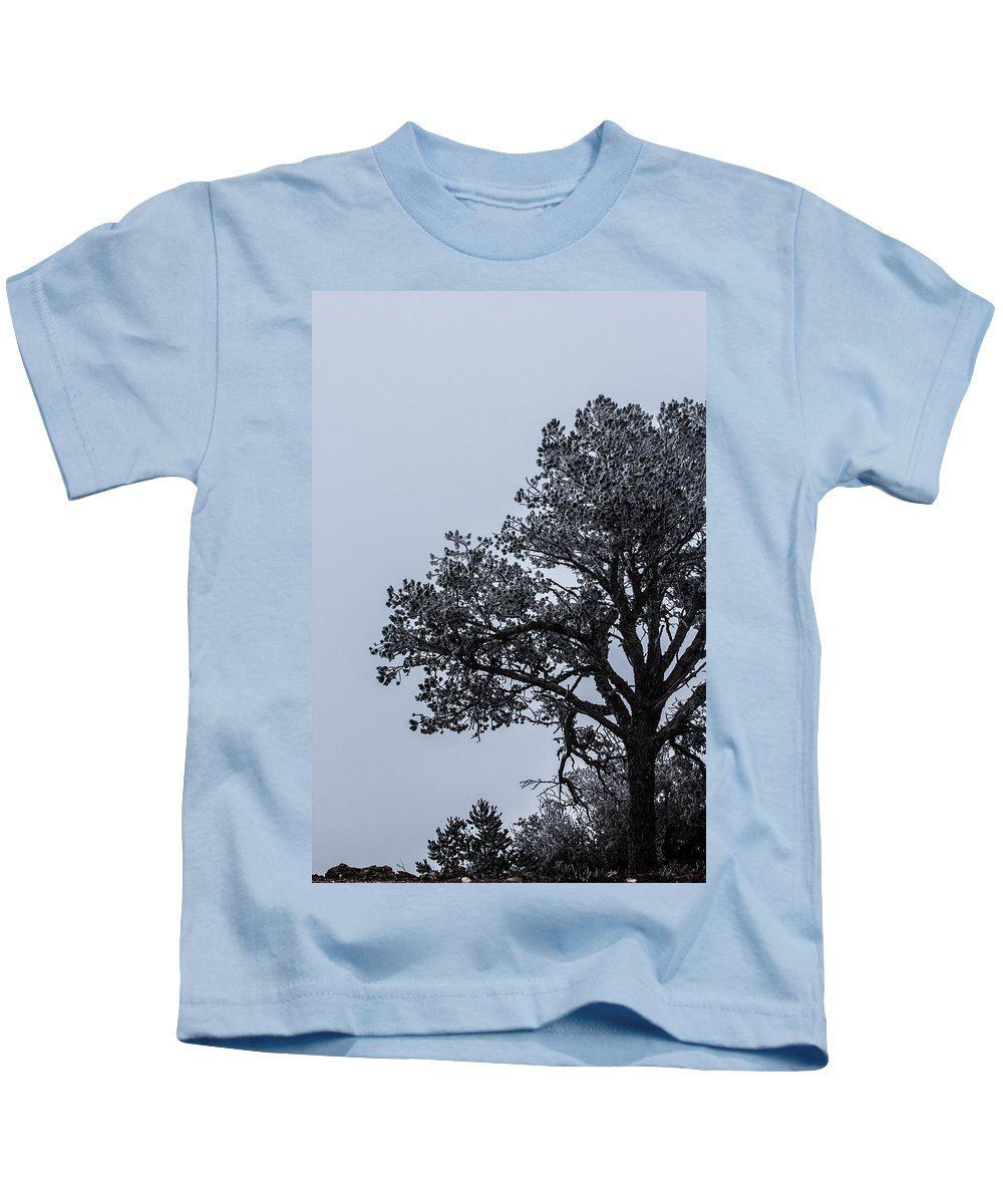 Fog Kids T-Shirt featuring the photograph Freezing Fog by Renny Spencer