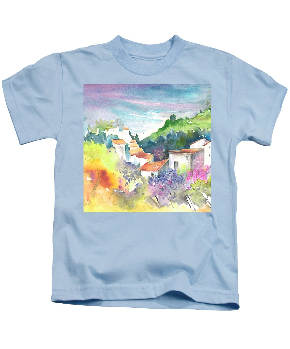 Spain Kids T-Shirt featuring the painting Gatova Spain 03 by Miki De Goodaboom