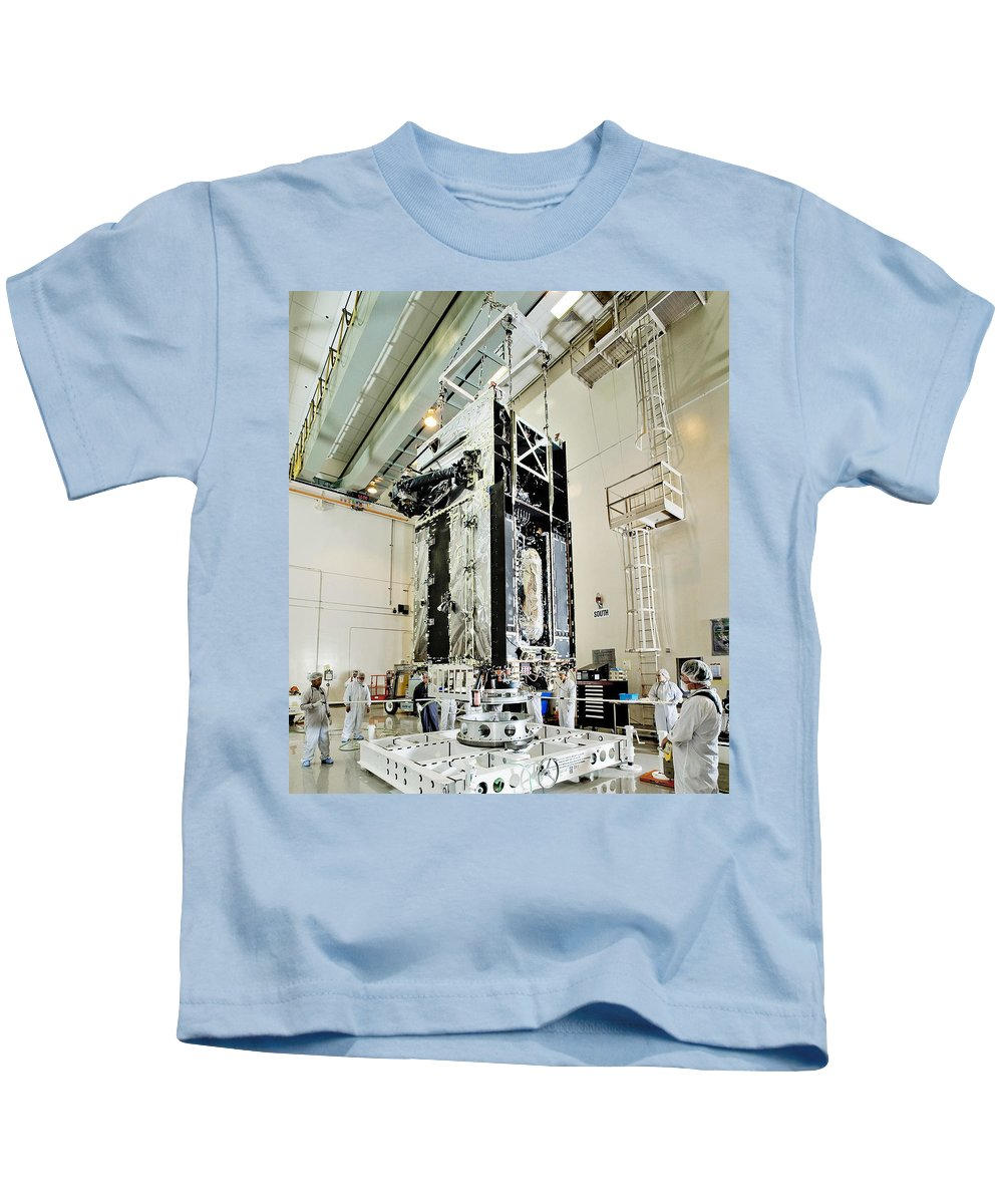 Astronomy Kids T-Shirt featuring the photograph Geo-1 Satellite In Lab by Science Source