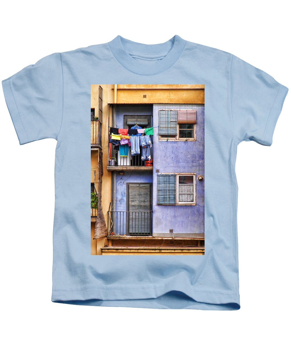 Girona Kids T-Shirt featuring the photograph Gerona 3 by Nikolyn McDonald