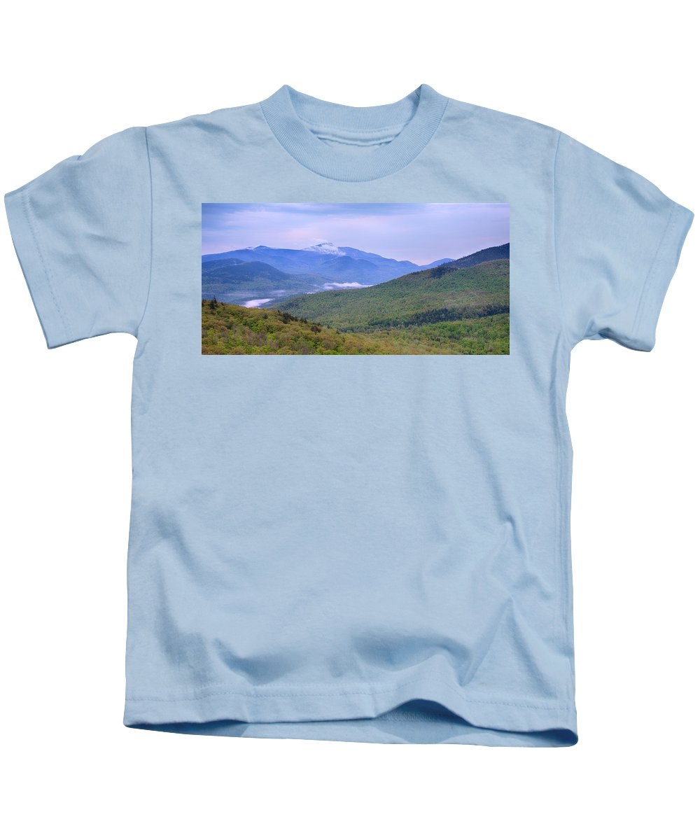 Photography Kids T-Shirt featuring the photograph Giant Mountain From Owls Head by Panoramic Images