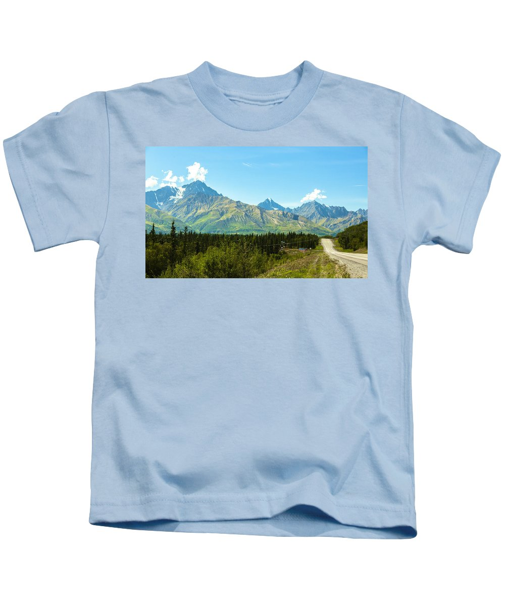 Alaska Kids T-Shirt featuring the photograph Glenn Hwy A-1 by Kyle Lavey