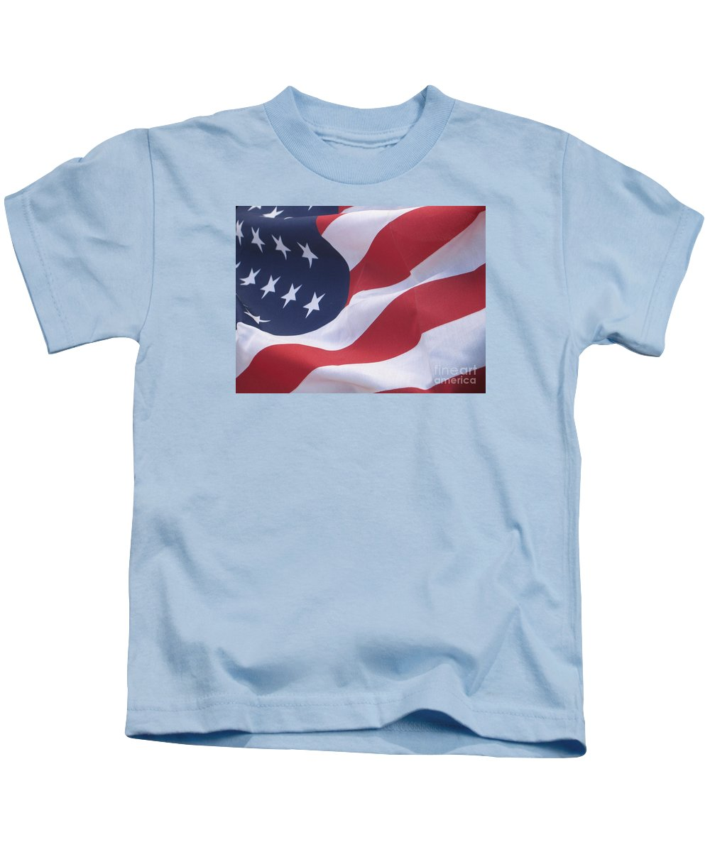 Photography Kids T-Shirt featuring the photograph God Bless America by Chrisann Ellis