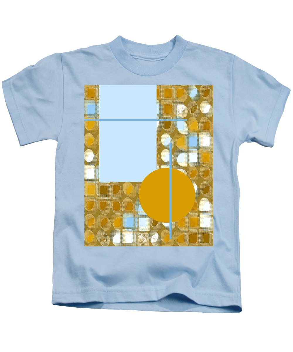 Interior Design Kids T-Shirt featuring the digital art Gold Is My Wish by Paulette B Wright