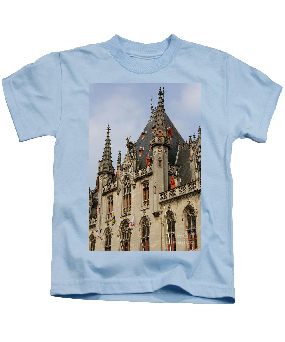 Bruges Kids T-Shirt featuring the photograph Gothic Bruges by Carol Groenen