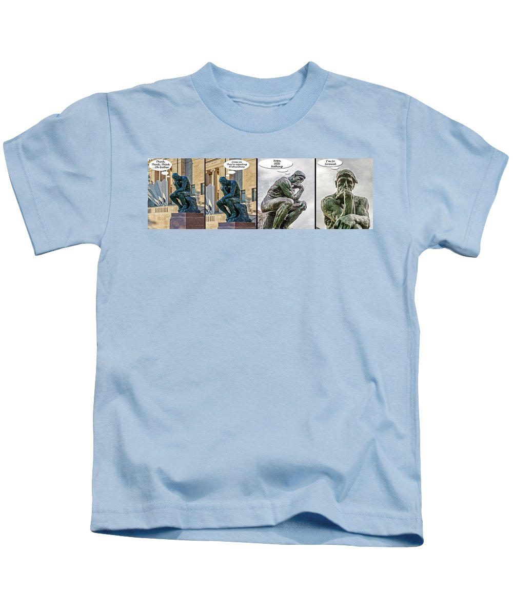 Rodin Kids T-Shirt featuring the photograph Great Expectations by Kevin Anderson