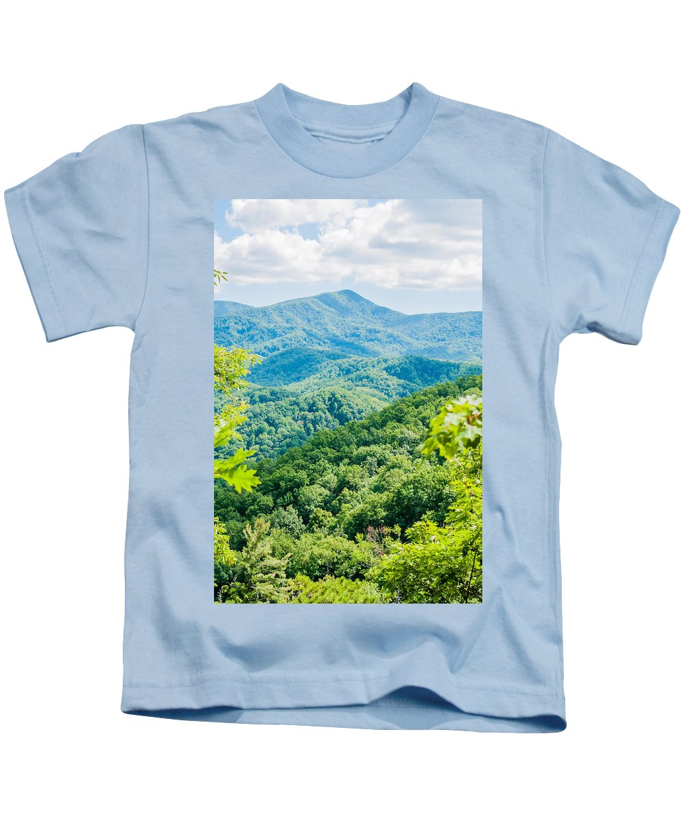 America Kids T-Shirt featuring the photograph Great Smoky Mountains National Park Near Gatlinburg Tennessee. by Alex Grichenko