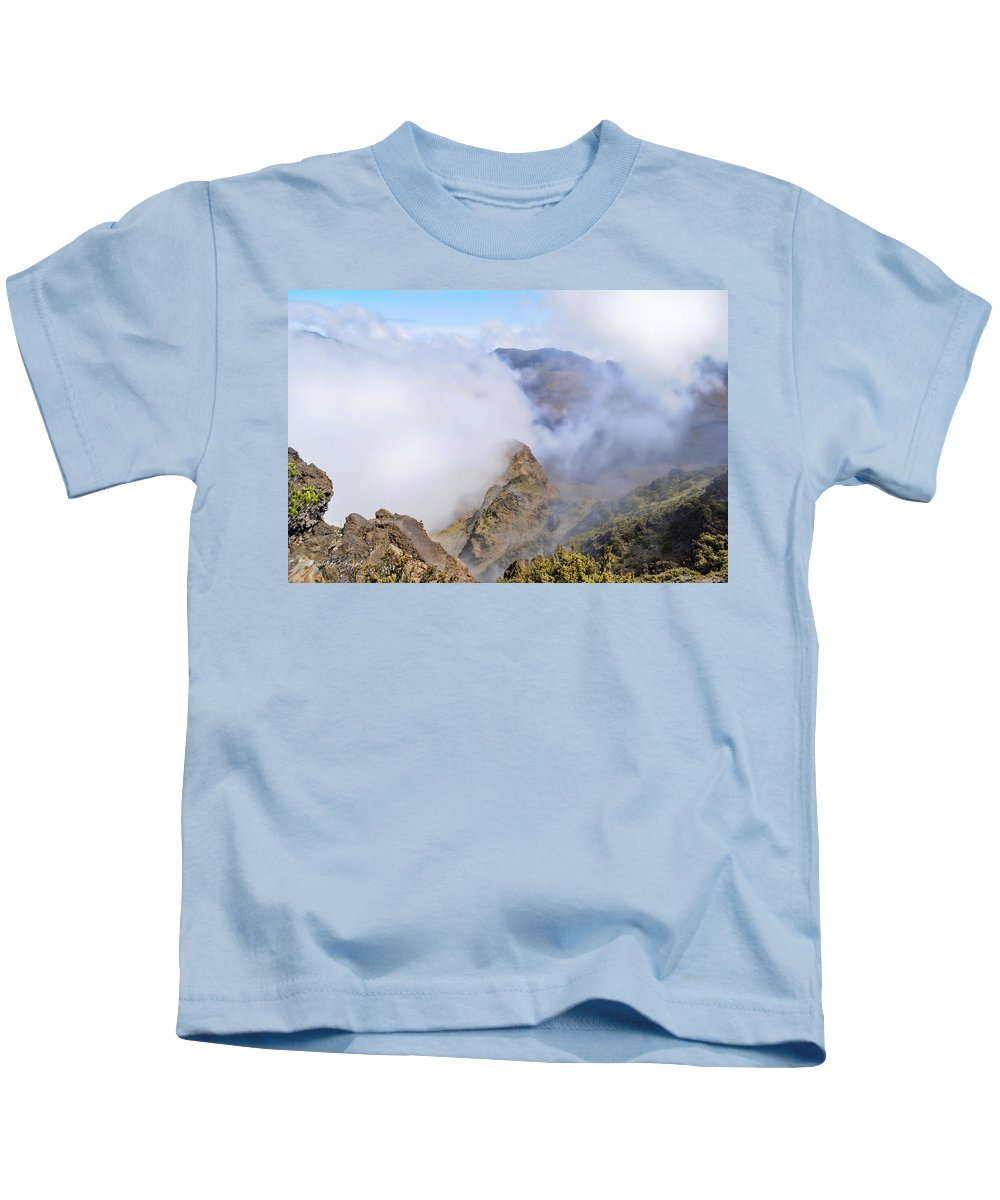 Wright Kids T-Shirt featuring the photograph Haleakala Mists by Paulette B Wright