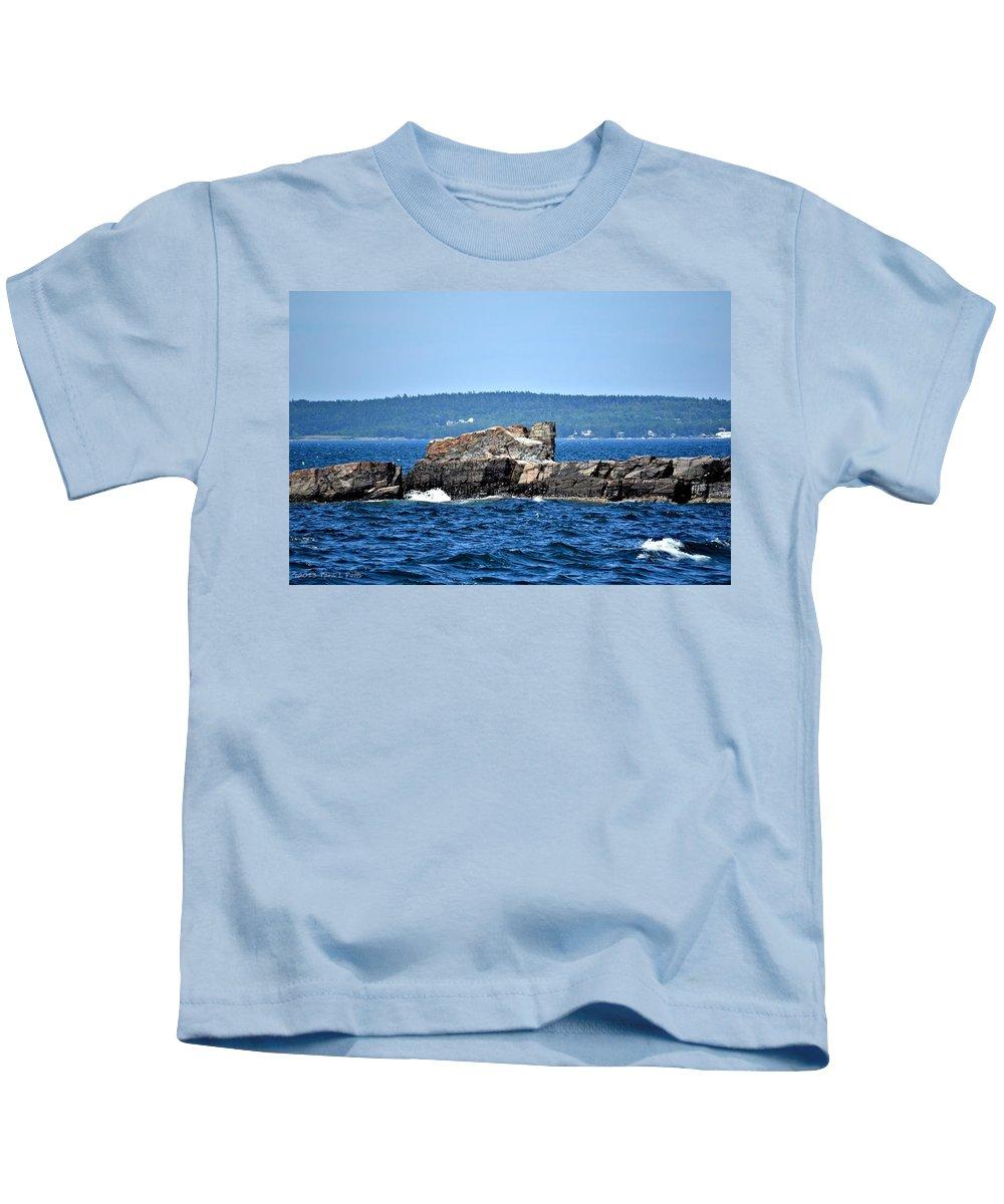 Harbor Kids T-Shirt featuring the photograph Harbor Rocks by Tara Potts