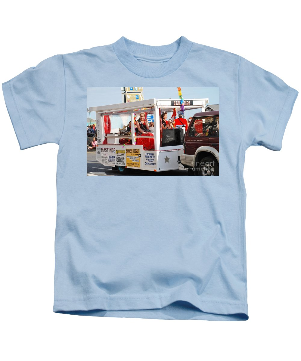 Queen Kids T-Shirt featuring the photograph Hastings Carnival Queen by David Fowler