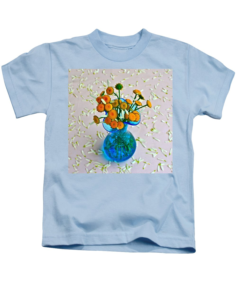 Flowers Kids T-Shirt featuring the photograph He Loves Me Bouquet by Frozen in Time Fine Art Photography