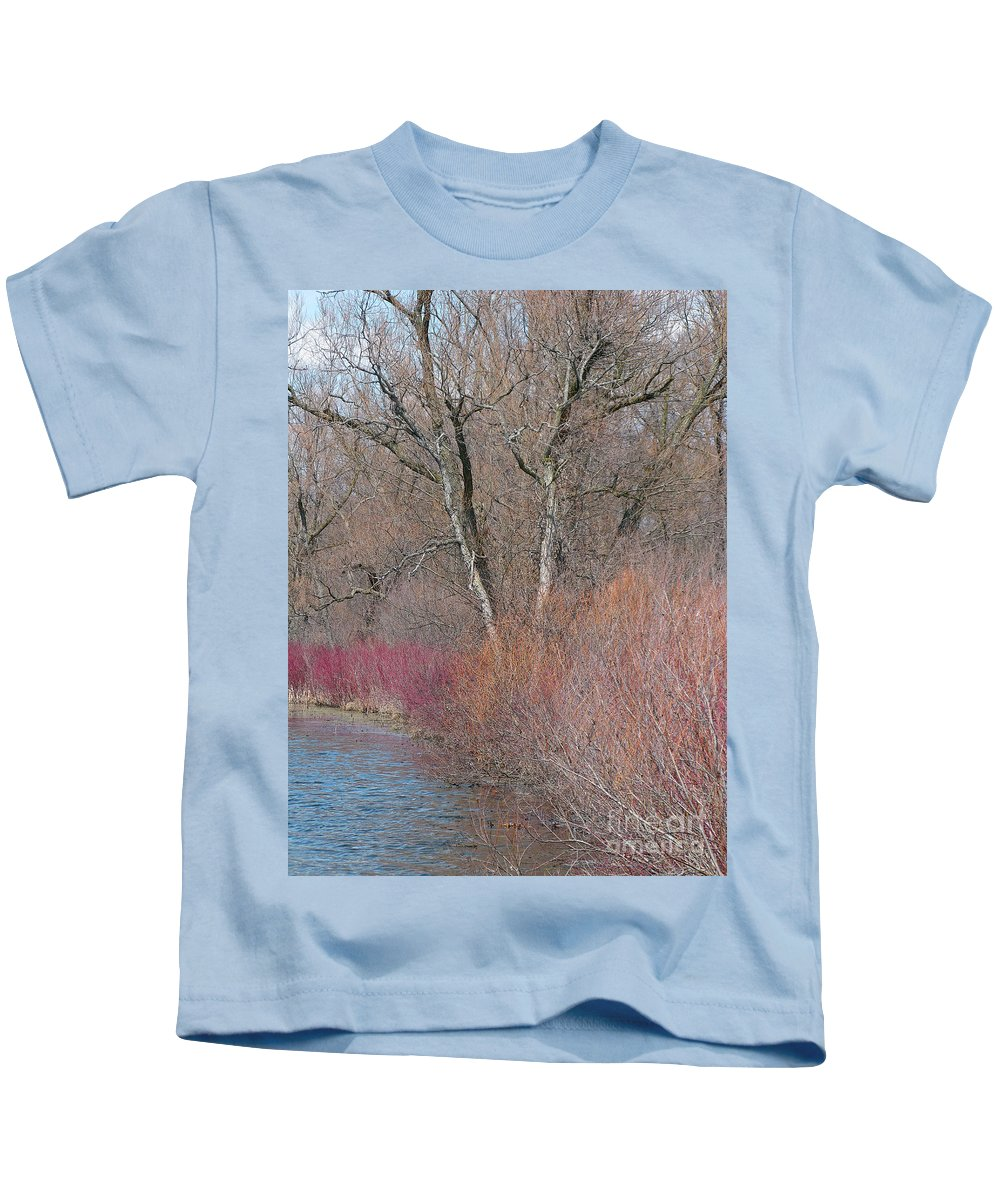 Spring Kids T-Shirt featuring the photograph Hint Of Spring by Ann Horn