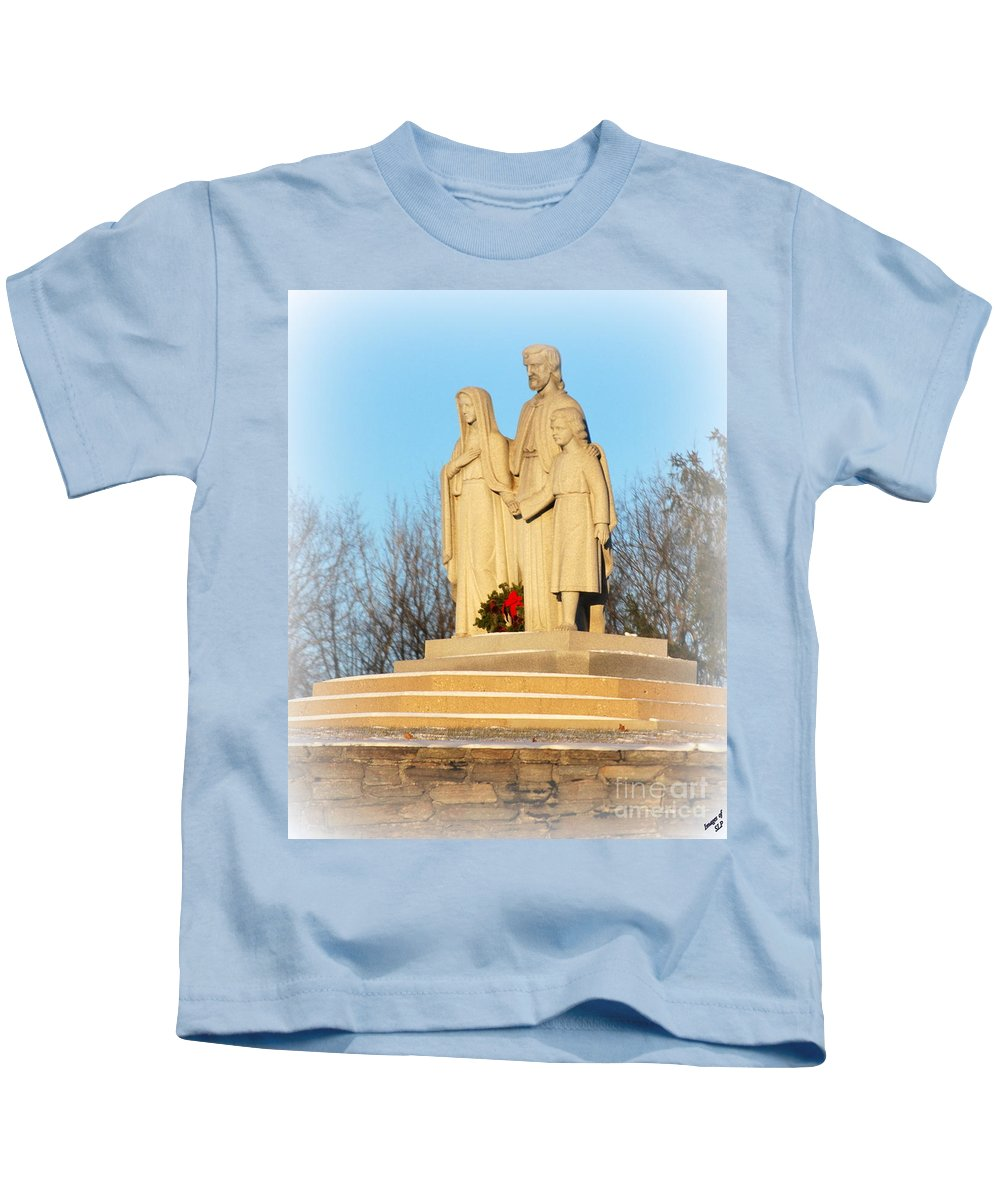 Jesus Kids T-Shirt featuring the photograph Holy Family by Scott Polley