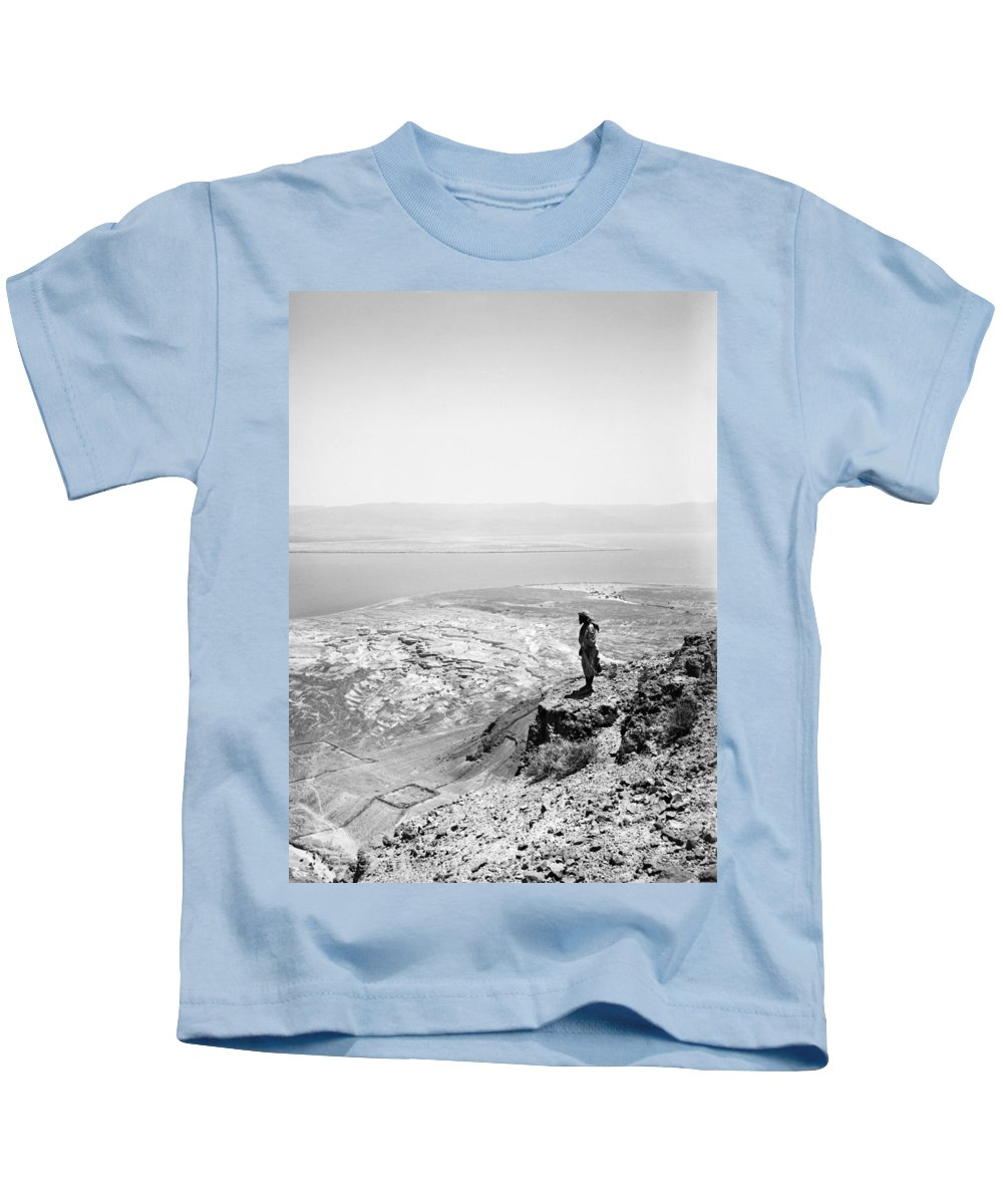 1910 Kids T-Shirt featuring the photograph Holy Land Dead Sea, C1910 by Granger