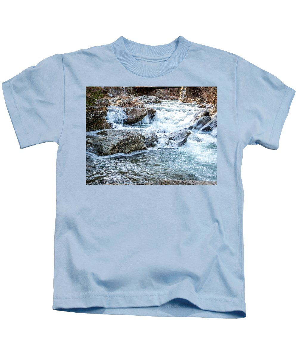 Winter Kids T-Shirt featuring the photograph Iced Creek by DAC Photography