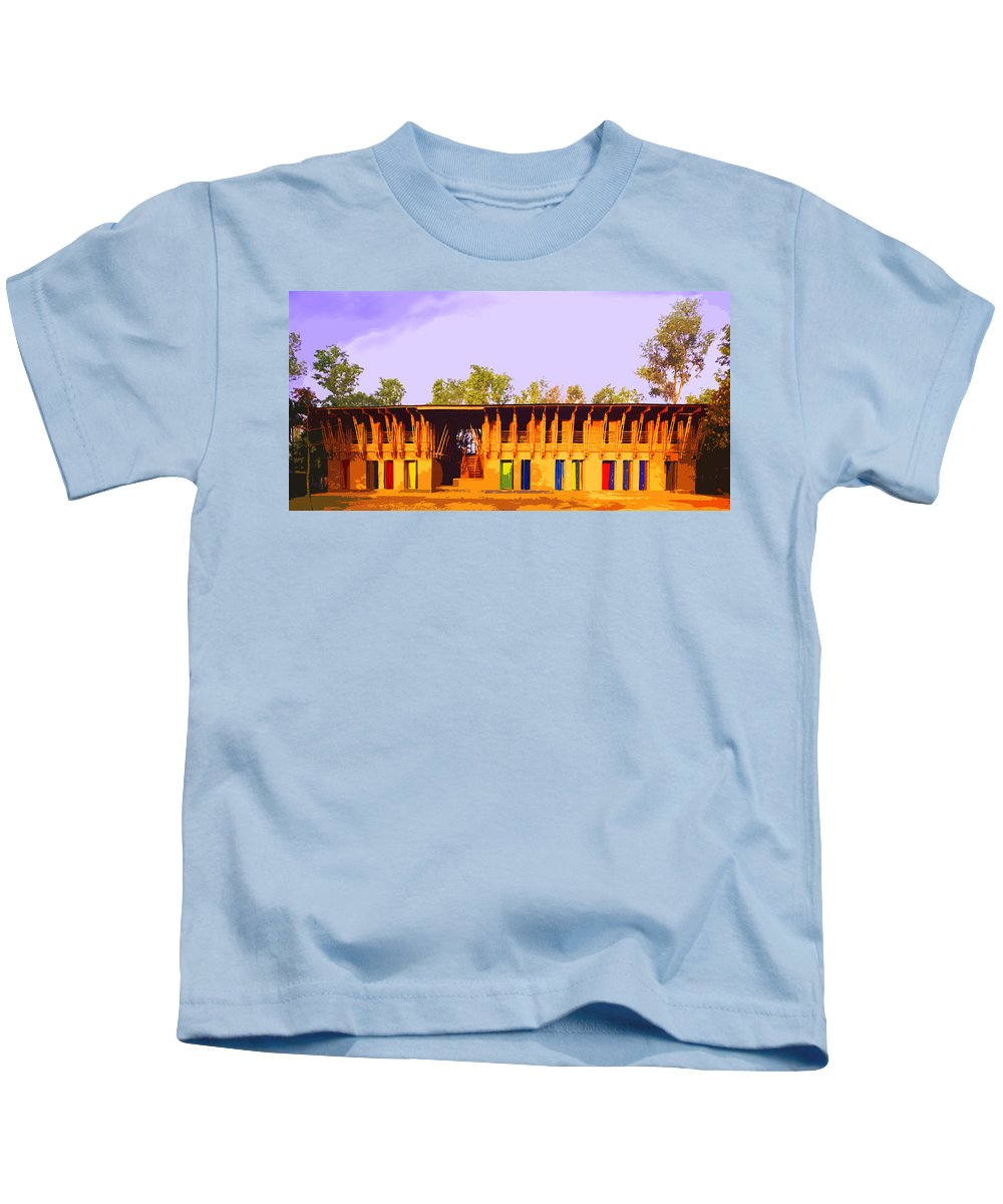 Kids T-Shirt featuring the digital art Impressionistic Photo Paint Ls 025 by Catf