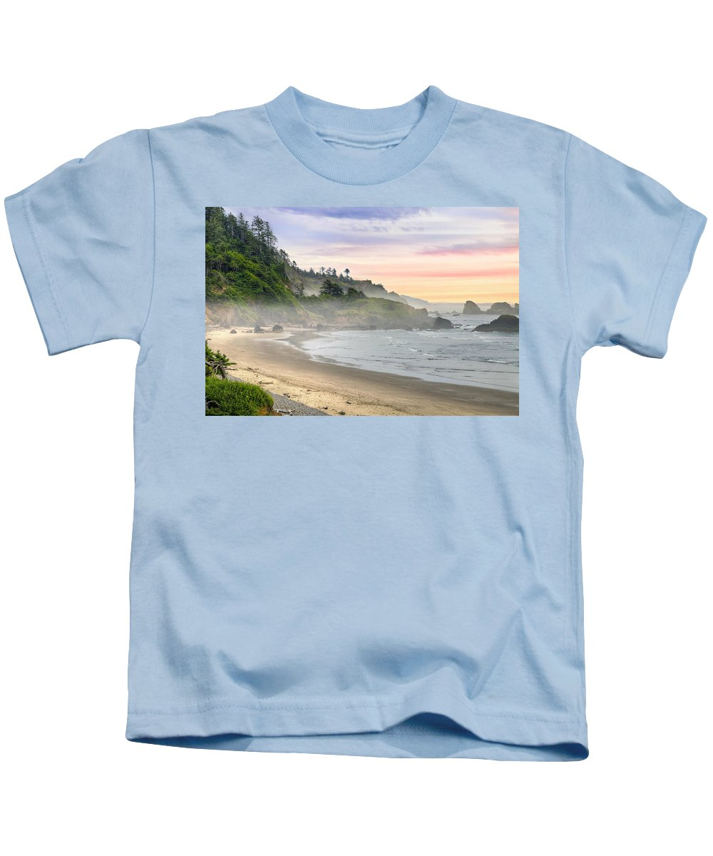 Indian Kids T-Shirt featuring the photograph Indian Beach One Foggy Morning by David Gn