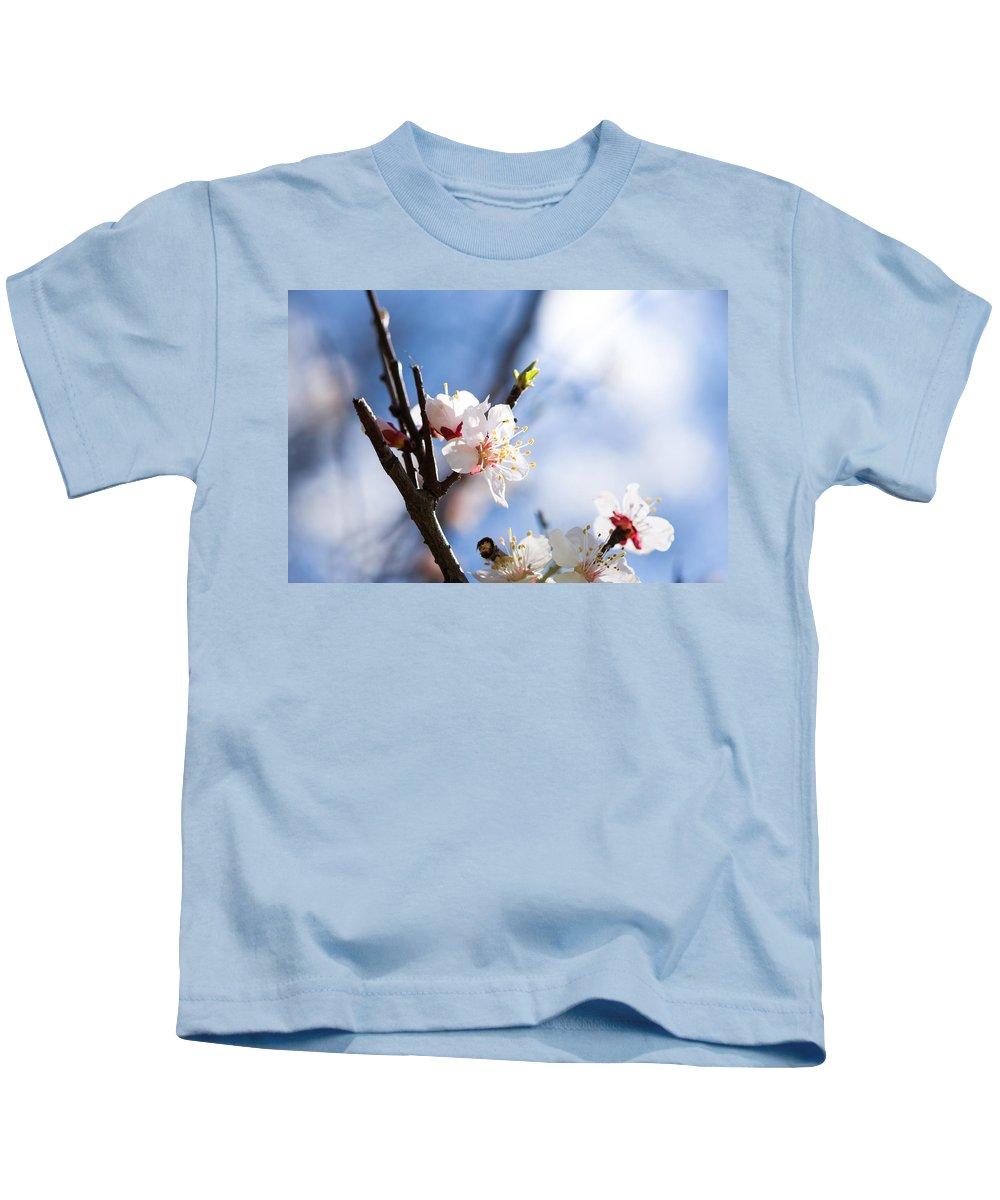 Sakura Kids T-Shirt featuring the photograph Inside The Nature's Studio by Alexander Senin