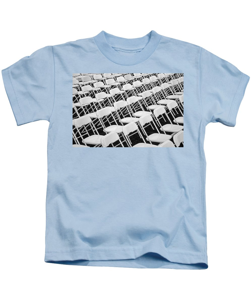 Chairs Kids T-Shirt featuring the photograph Invitation by John Stephens