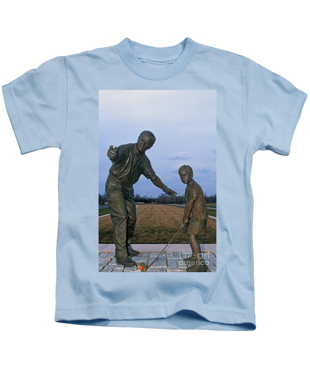 Jack Nicklaus Kids T-Shirt featuring the photograph 36u-245 Jack Nicklaus Sculpture Photo by Ohio Stock Photography