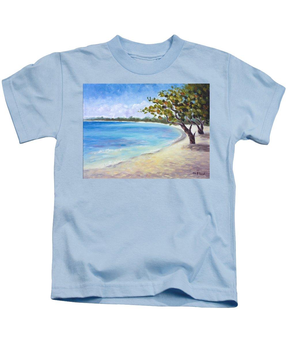 Jamaica Kids T-Shirt featuring the painting Jamaican Sanctuary by Karin Leonard