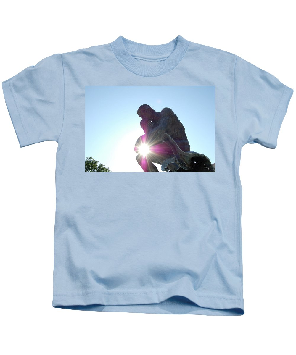Cleveland Kids T-Shirt featuring the photograph Jammer Sunny Thinker by First Star Art