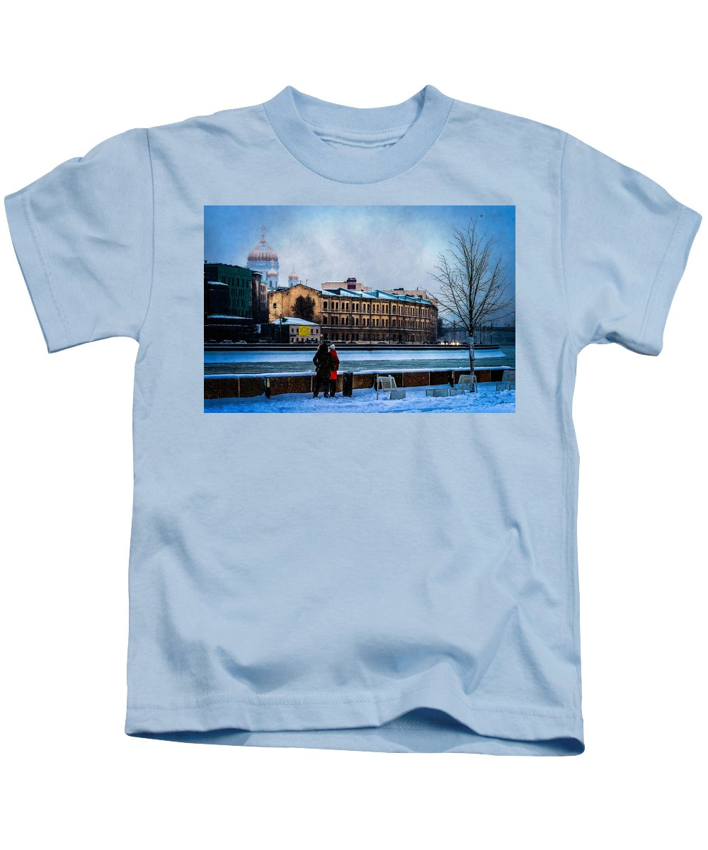 Moscow Kids T-Shirt featuring the photograph January Afternoon by Alexander Senin