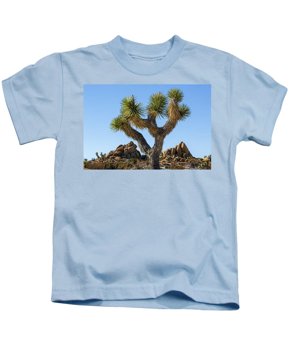 Joshua Tree Kids T-Shirt featuring the photograph Joshua Tree by Kelley King