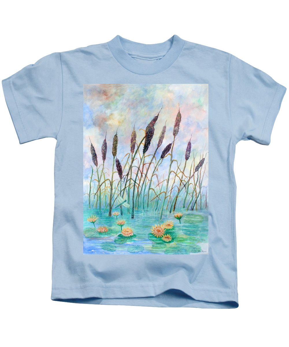 Pond Kids T-Shirt featuring the painting Joy Of Summer by Ben Kiger
