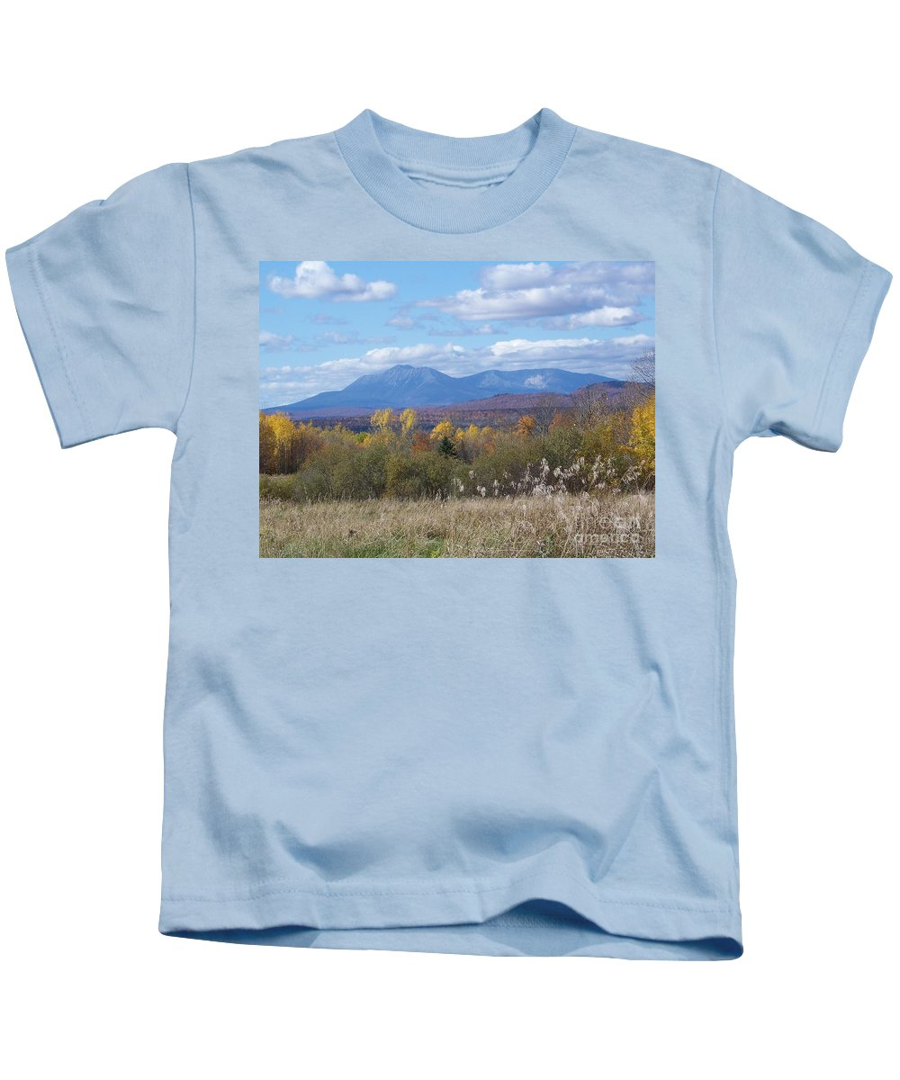 Mount Katahdin Kids T-Shirt featuring the photograph Katahdin From Staceyville 4 by Joseph Marquis