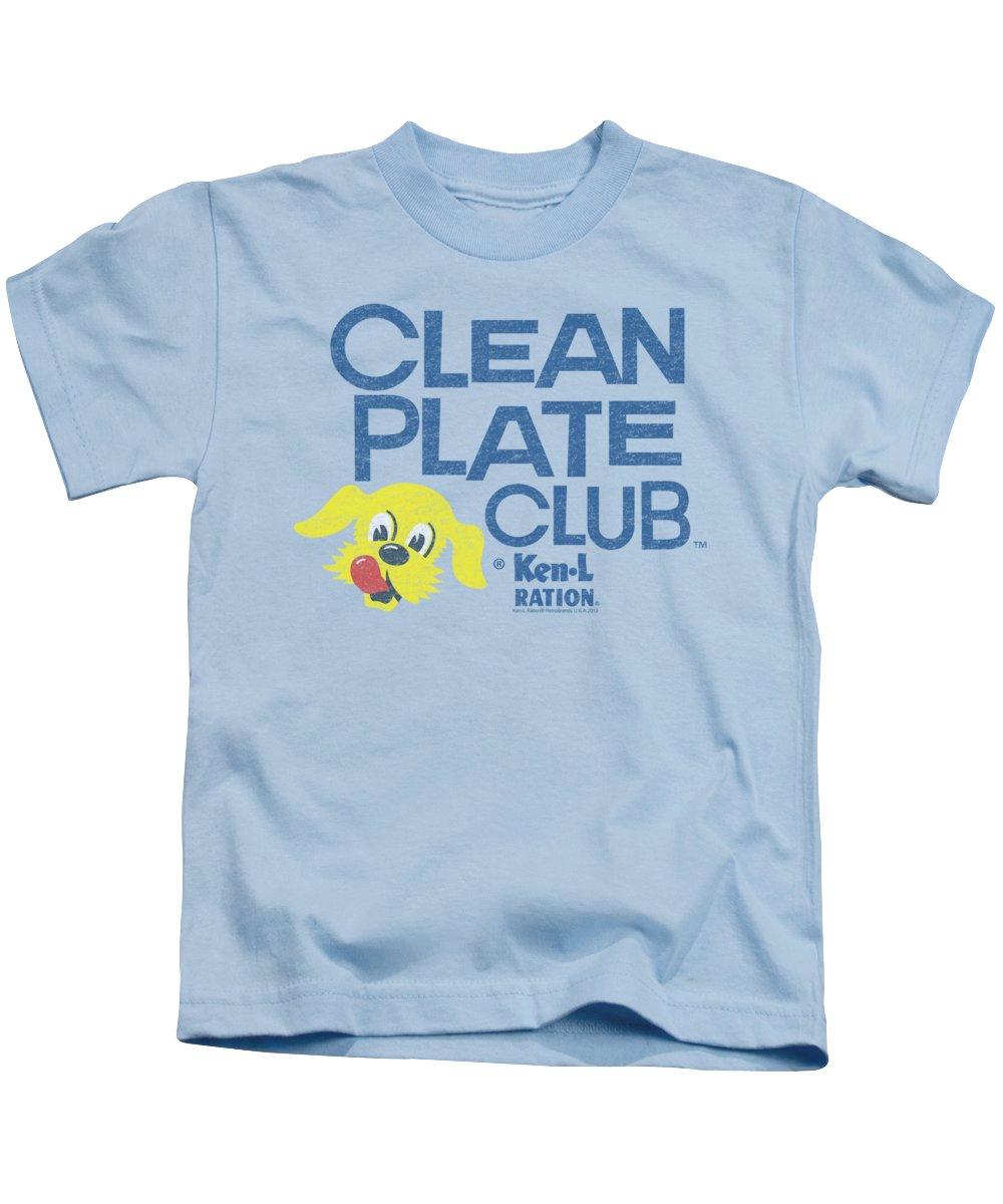 Ken L Ration Kids T-Shirt featuring the digital art Ken L Ration - Clean Plate by Brand A