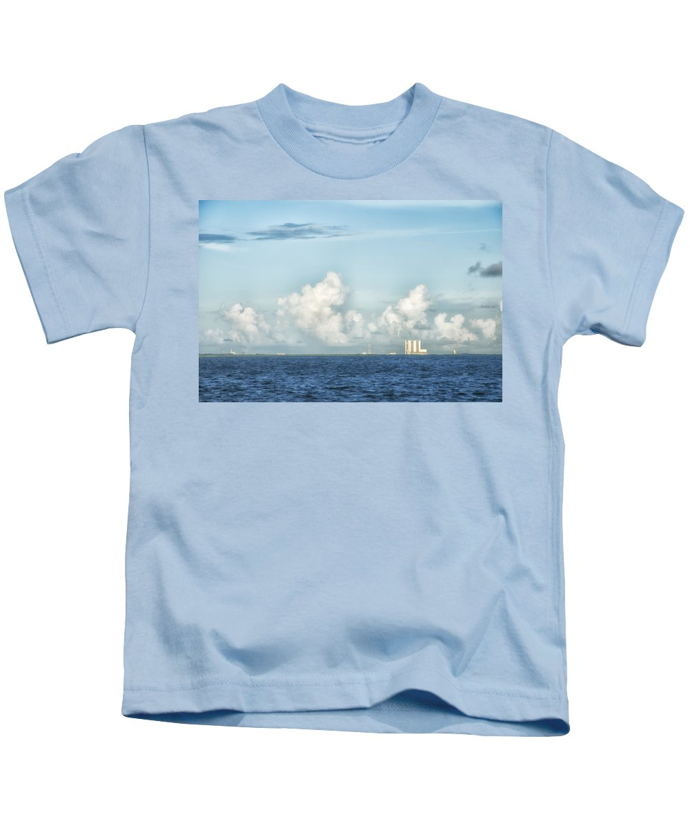 Blue Sky Kids T-Shirt featuring the photograph Kennedy Space Center by Louise Hill