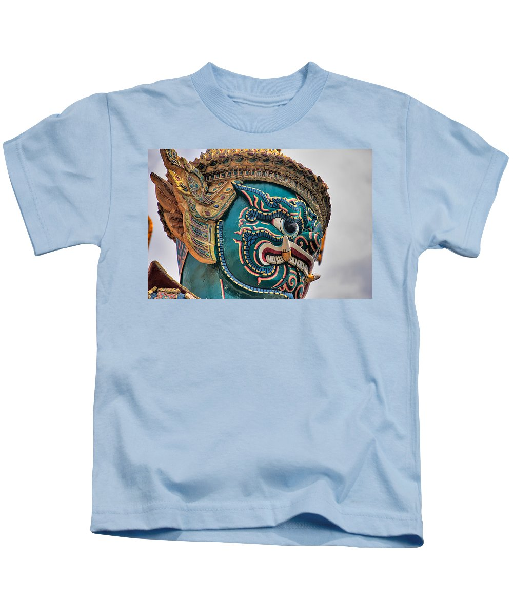 3scape Kids T-Shirt featuring the photograph Khmer Guard by Adam Romanowicz