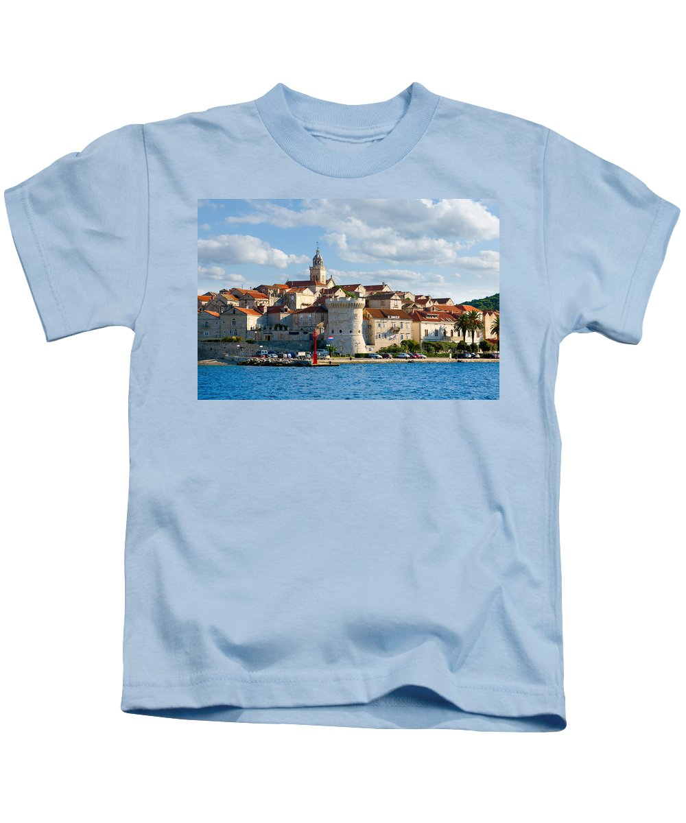 Korcula Kids T-Shirt featuring the photograph Korcula by Alexey Stiop