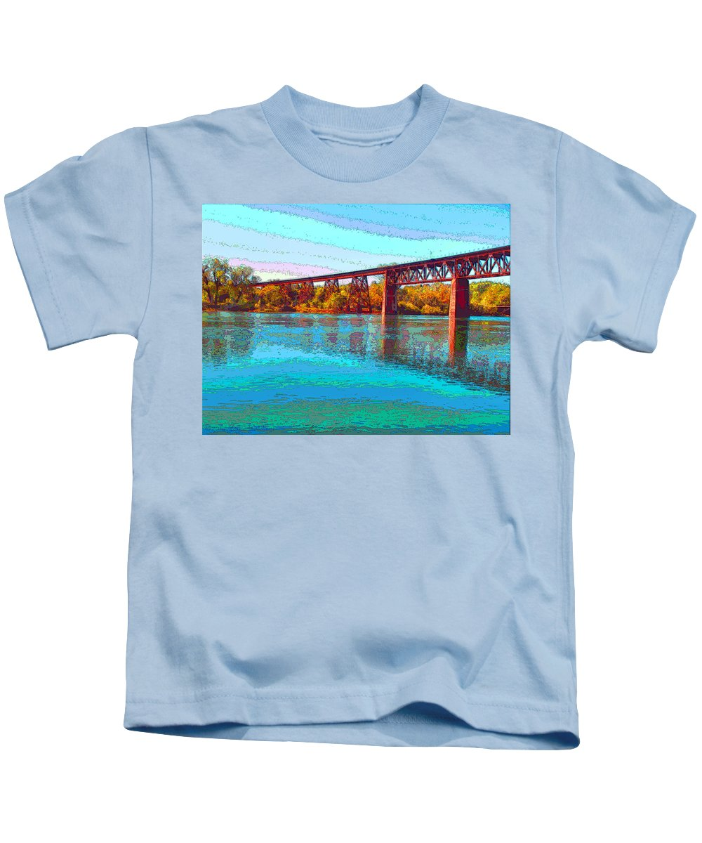 Redding Kids T-Shirt featuring the photograph Lake Redding Ca Digital Painting by Joyce Dickens