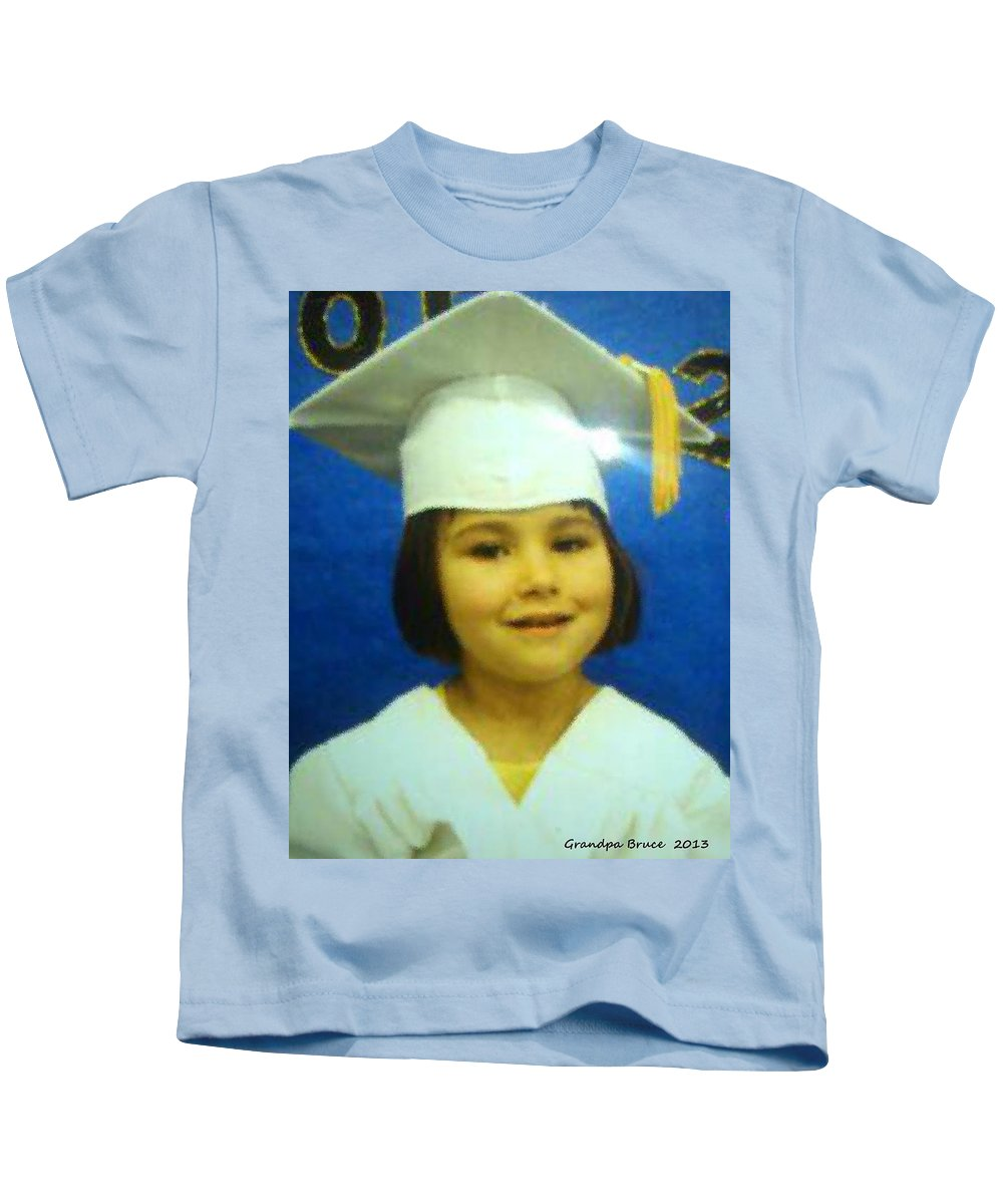 Lilli Kids T-Shirt featuring the painting Lilli My Granddaughter by Bruce Nutting
