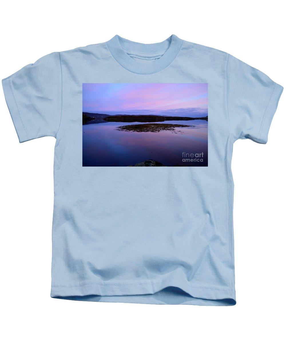 Sunrise Kids T-Shirt featuring the photograph Loch Dunvegan At Sunrise by DejaVu Designs