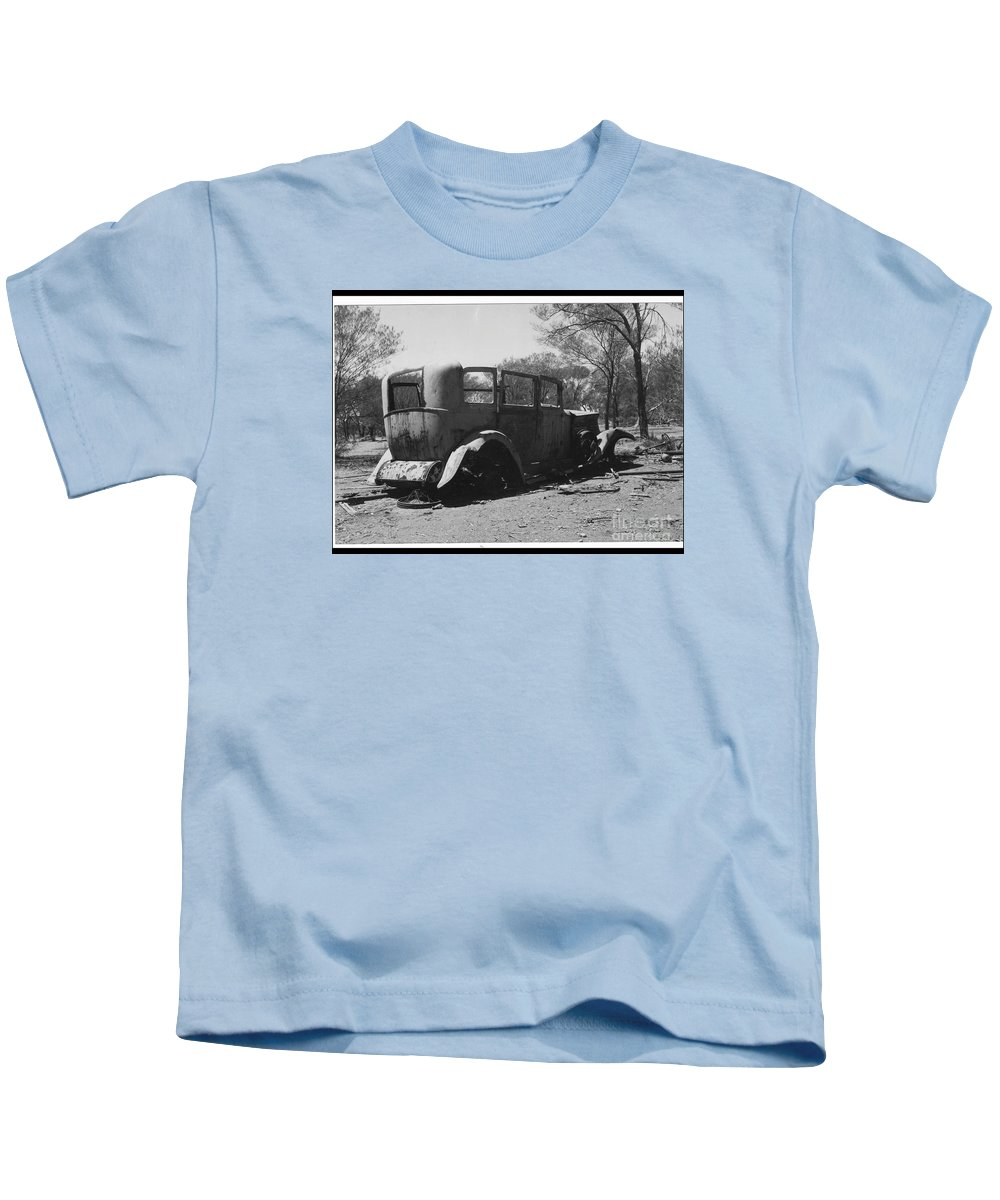 Early 20th Century Motor Vehicle Kids T-Shirt featuring the photograph Lost by Barry Olsen