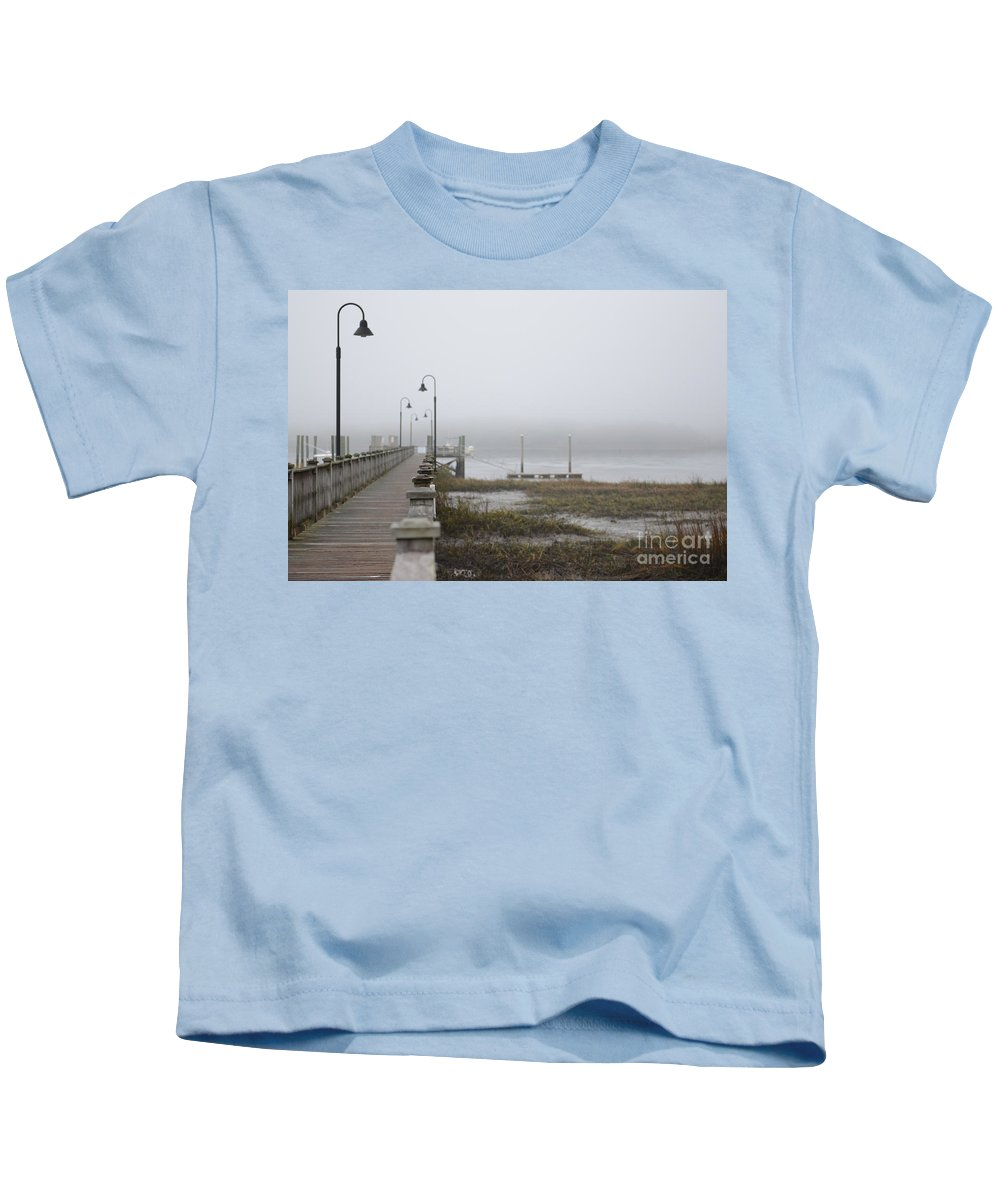 Fog Kids T-Shirt featuring the photograph Lowcountry Waters by Dale Powell
