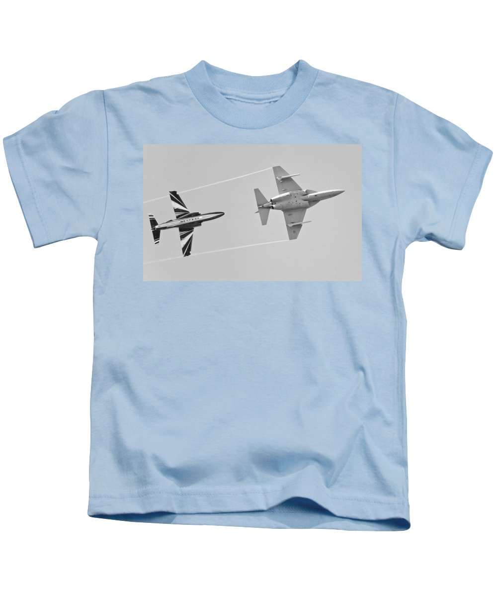 Military Trainer Aircraft Kids T-Shirt featuring the photograph M-346 by Maj Seda
